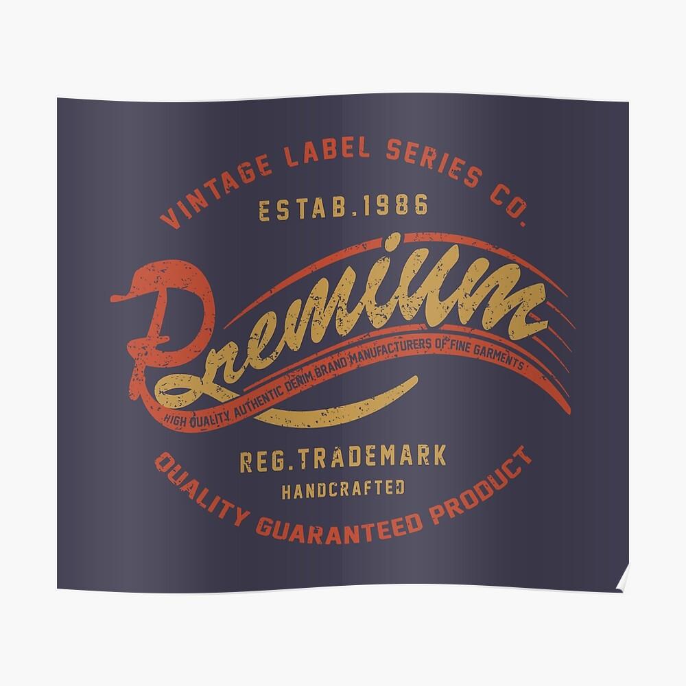 Premium Vintage Label Hand Lettering Poster