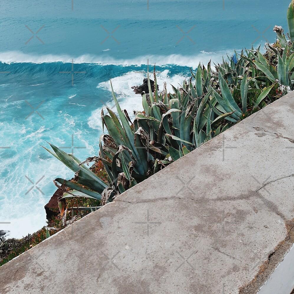 Blue Ocean and Green Plants  by AlexandraStr