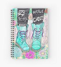 Punk Boots Spiral Notebook