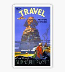 Egypt vintage travel poster Restored Sticker