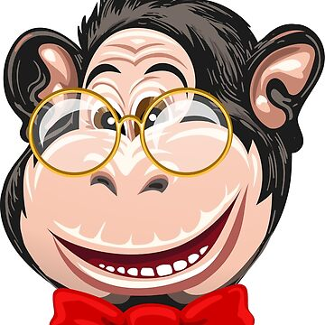 Funny Monkey with Glasses and Bow Tie by Gertot1967