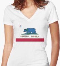 Grateful Republic Women's Fitted V-Neck T-Shirt