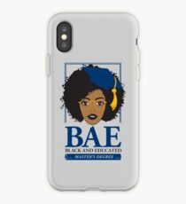 BAE- Black and Educated Master's Degree Silver iPhone Case