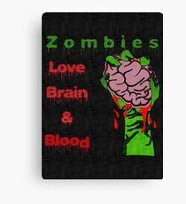 Halloween Night with Zombies Canvas Print