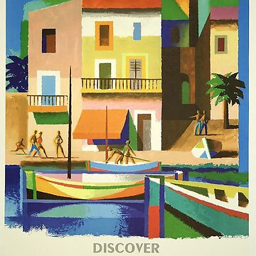 Vintage Travel Poster - France by marlenewatson