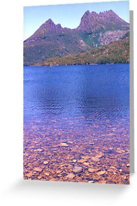 Cradle Mountain across Dove Lake by Michael John