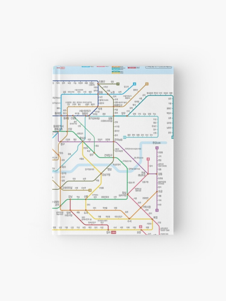 Korea Seoul Subway Map.South Korea Seoul Subway Map Hangul Hd Hardcover Journal