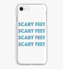 Sulley Scary Feet Monsters Inc Text iPhone Case/Skin