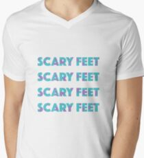 Camiseta de cuello en V Texto de Sulley Scary Feet Monsters Inc