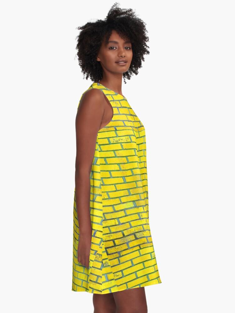 Alternate view of Yellow bricks A-Line Dress