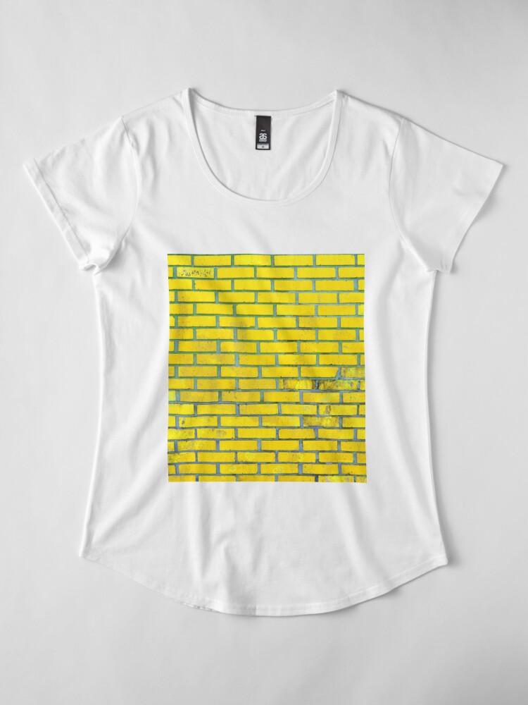 Alternate view of Yellow bricks Premium Scoop T-Shirt