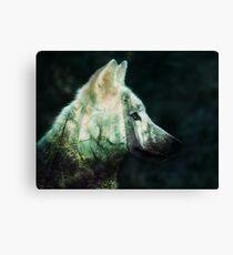 Wilder Wolf Leinwanddruck