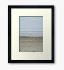 Airport on the beach Framed Print