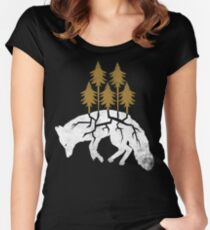 Dying Fox Women's Fitted Scoop T-Shirt