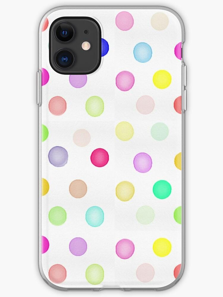 Watercolor dots iPhone 11 case