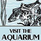 «Visita la publicidad retro del acuario.» de aapshop