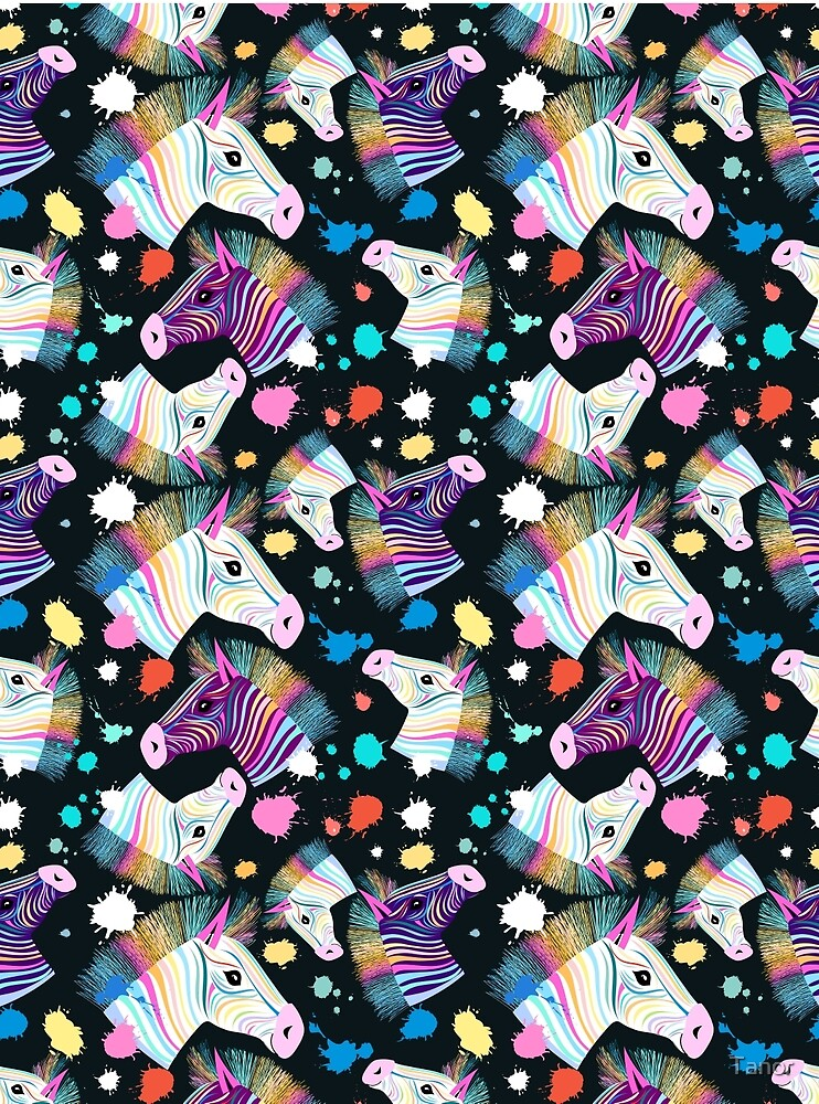 "Colorful Zebra Print Nail Art Tutorial: ""colorful Zebra Pattern "" By Tanor"