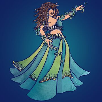 Belly Dancer Ruby in Teal by Boogiemonst