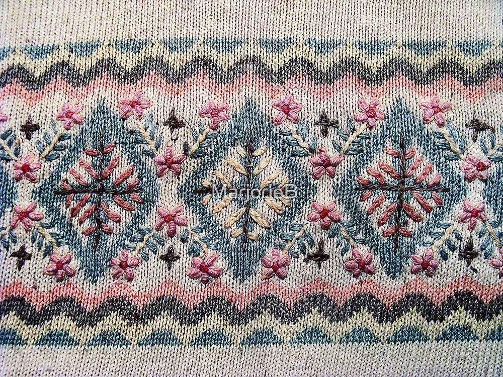 Detail of Scandinavian Sweater Design by MarjorieB