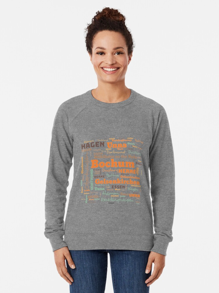 Alternate view of RUHRPOTT WORTWOLKE (colored) Lightweight Sweatshirt