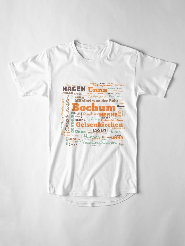 Alternate view of RUHRPOTT WORTWOLKE (colored) Long T-Shirt