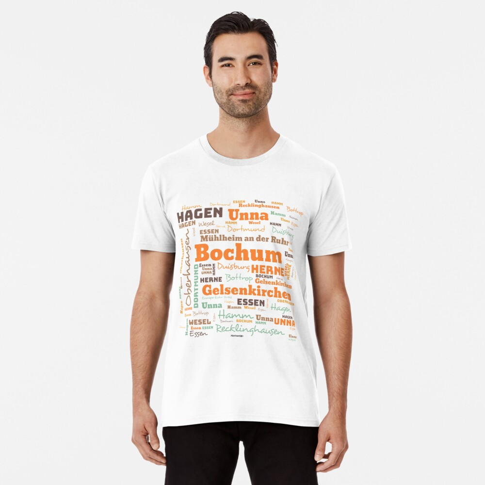 RUHRPOTT WORTWOLKE (colored) Premium T-Shirt