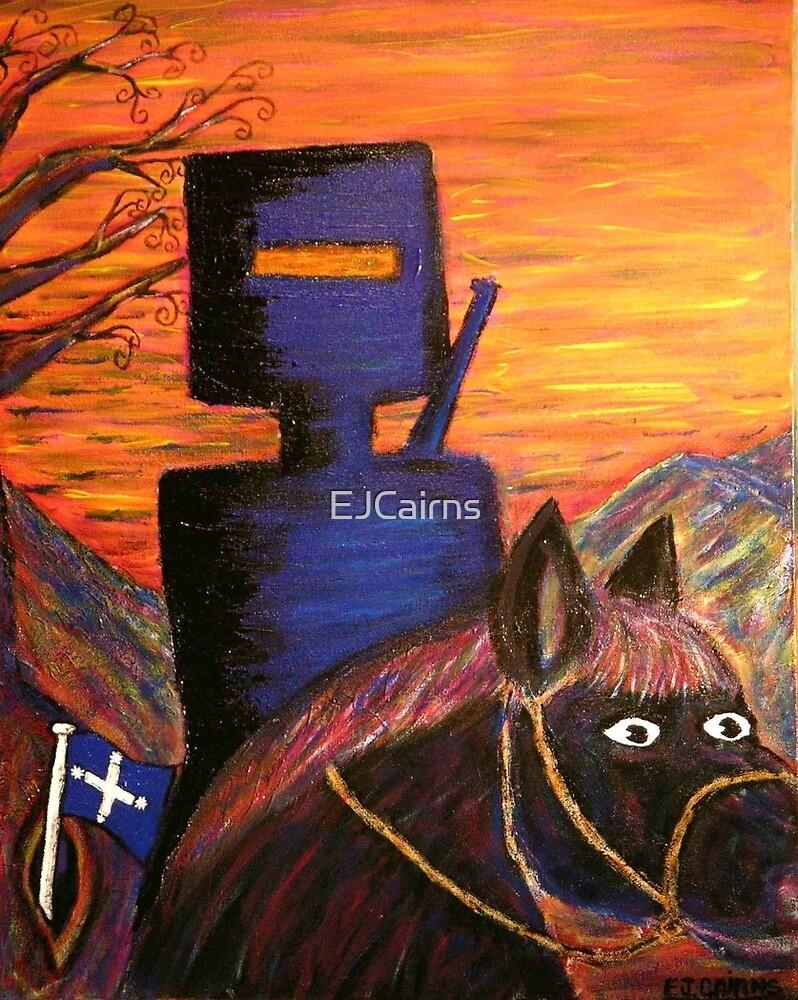 Abstract (Ned Kelly's Fiery Sunset)  EJCairns Australia  Original  by EJCairns