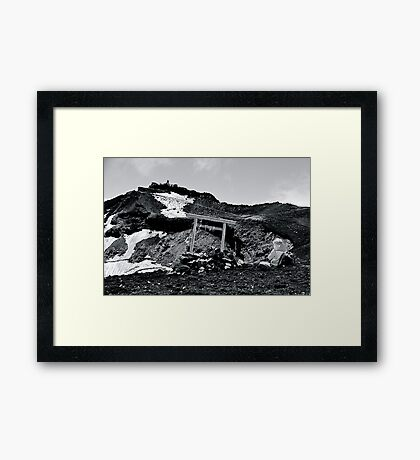 A Private Moment at the Summit Framed Print