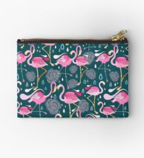 pattern with flamingos  Studio Pouch