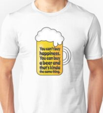 Beer Proves You Can buy Happiness. Slim Fit T-Shirt
