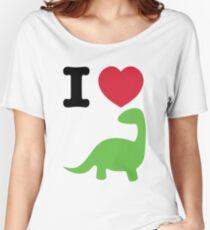 I heart dinosaur (brachiosaurus) Women's Relaxed Fit T-Shirt