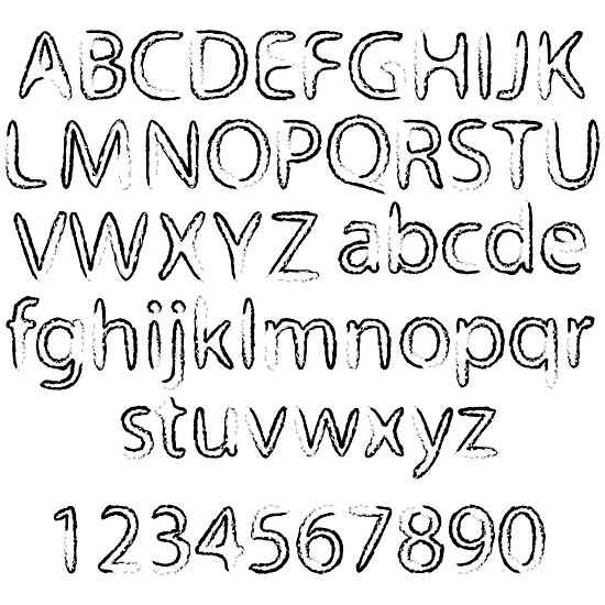 Black abstract alphabet by Laschon Robert Paul