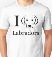 Camiseta ajustada I Love Labradors Design For Labrador Retriever Puppy Dog Owners Lovers Fan