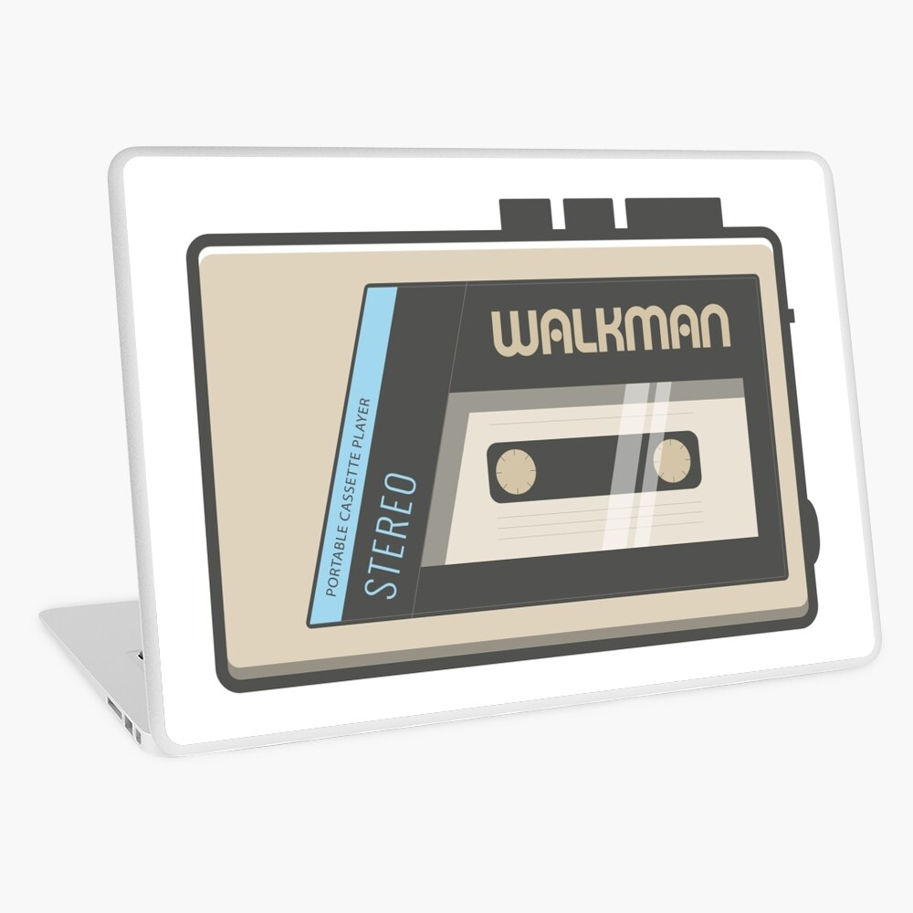 Retro Walkman Music Player 80s Electronics   Laptop Skin