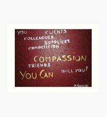 Corporate Compassion Art Print