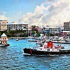 Bermuda - Schlepper in Hamilton Hafen von Susan Savad
