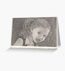 Medusa at primary school Greeting Card