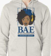 BAE- Black and Educated Bachelor's Degree Zipped Hoodie