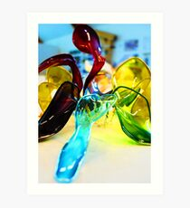 Abstract model Art Print