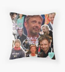 John Simm Collage Throw Pillow