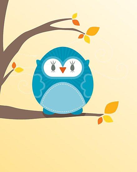 Sweet owl in a tree 2 by Kat Massard