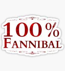 100% Fannibal Sticker