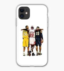 Kobe Bryant x Michael Jordan x Lebron James 'The Greatest of All Time' iPhone Case