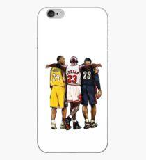 Vinilo o funda para iPhone Kobe Bryant x Michael Jordan x Lebron James & # 39; El más grande de todos los tiempos & # 39;