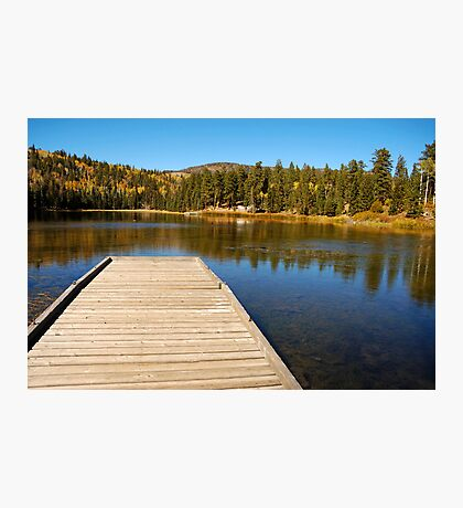 Posey Lake in the fall. Photographic Print