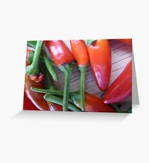 Red spice home grown peper Greeting Card