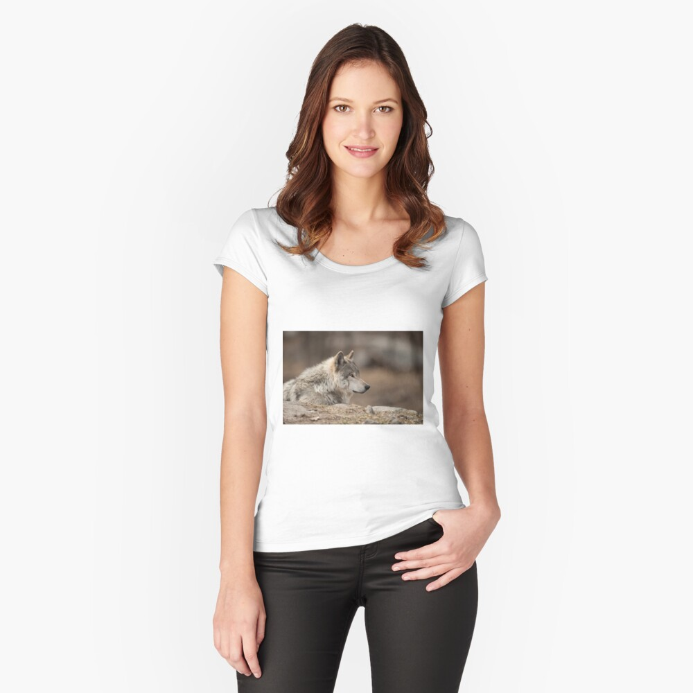 Timber Wolf Women's Fitted Scoop T-Shirt Front