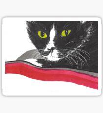 TUXEDO CAT RED Sticker
