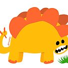 Stegosaurus Lunchtime by mikepop