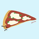 Smiling Pizza Slice by mikepop